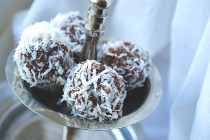 chokladbollar med kokosolja